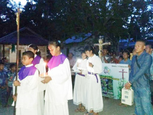 Prosesi Salib IYD Keuskupan Tanjung Selor