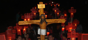 Salib disambut Lampion