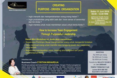 [Christpreneurs] CREATING PURPOSE-DRIVEN ORGANIZATION