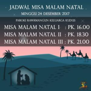 jadwal misa 36