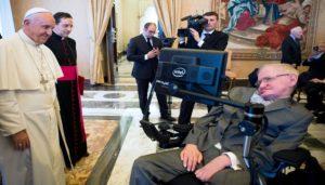 Paus1-Fransiskus-bertemu-Stephan-Hawking